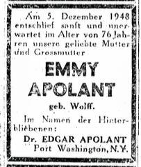11_Emmy-Apolant-Todesanzeige