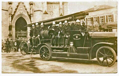 Franz Ehrlich 1921 oder 1923 bei der Frewilligen Feuerwehr KG