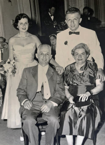 Ludwig,-Irma,-Clem-and-Lothar-at-Clems-wedding-1956