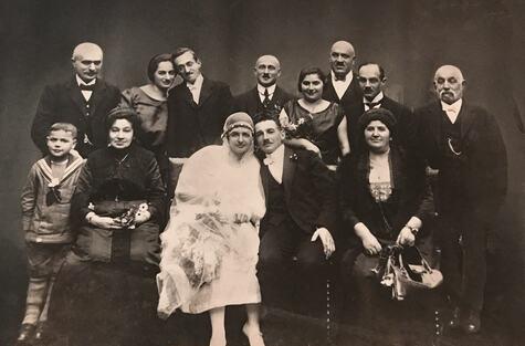 Hochzeit-Irma-und-Ludwig-Goldner,-1924